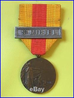03 Médaille commémorative ST MIHIEL guerre 14 18 WW1 french medal