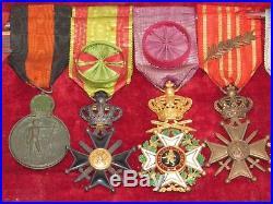 09e27 Ancien Cadre Médailles D'officier Belge Yser Épaulettes Belgique 14/18 Wwi