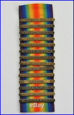 14 Barrettes pour la Médaille Interalliée U. S. A