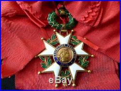 1870 Ordre de la Légion d'Honneur III em République Or Echarpe Bijoutier