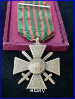 1914-1918 Croix Guerre Général Aubert-Frère Chasseur pieds