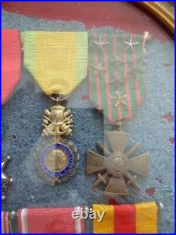 1914 1918 Médailles d'un Poilu du 92 ém R I Verdun Saint Mihel