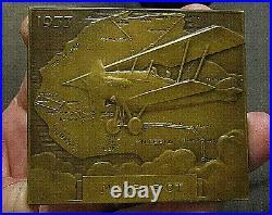 1933 Aviation Medaille Art Nouveau Croisiere Noire Africaine Aerienne