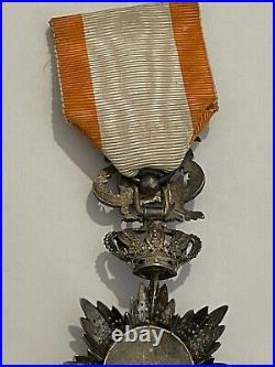 2 Rare Médaille coloniale ordre du Dragon d'Annam Indochine