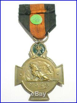 3.11D Médaille militaire belge croix YSER guerre 1914 1918 belgian medal