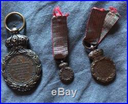 3 Médailles de Sainte Helene, taille ordonnance, demie taille et miniature