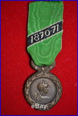 4.1 Médaille militaire des volontaires mineurs de la guerre 1870 french medal