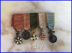 5 Miniatures Legion D'honneur Campagne D'italie Danneborg Baltique Ordre Maurice