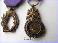 6 Miniatures Napoleon III Mexique Crimee + 4 Agrafes Medaille Mili. Versaillais