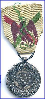 6144 Medaille Du Mexique II Empire