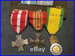 7.9A1 Beau placard de médailles 39 45 Algérie Indochine armée french medal