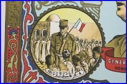 AFFICHE Général De Gaulle 1958 Honneur Patrie en ARABE imp Baconnier Algerie