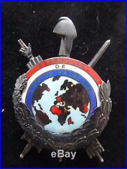 ASSEMBLÉE DE L'UNION FRANÇAISE 1946- 1958 insigne de fonction argent