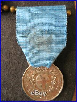 AVM médaille de la valeur militaire sarde attribuée
