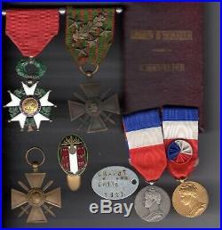 Aéronautique militaire WWI souvenirs d'un observateur (brevet, LH, docs)