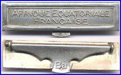 Agrafe à clapet AFRIQUE EQUATORIALE FRANÇAISE