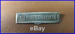 Agrafe à clapet pour Médaille Coloniale Îles De La Société