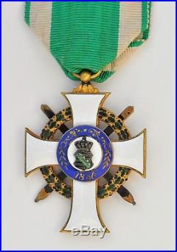 Allemagne Bade, ordre d'Albert le Valeureux, chevalier de 1ere classe, vermeil