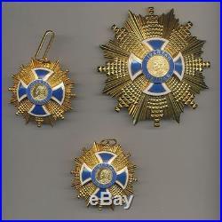 Amérique du sud Ordre du mérite Simon Bolivar Lot de 3 décorations