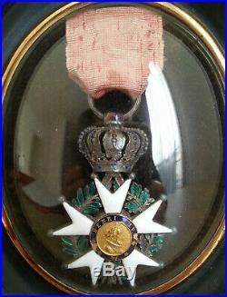 Ancienne MEDAILLE MILITAIRE Légion d'Honneur HENRI IV Monarchie de Juillet 1830