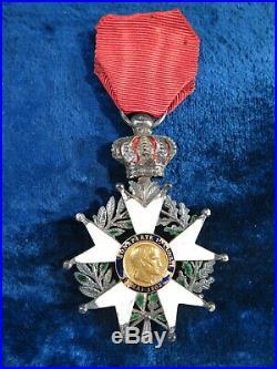 Ancienne Medaille Legion D'honneur En Argent Email Napoleon