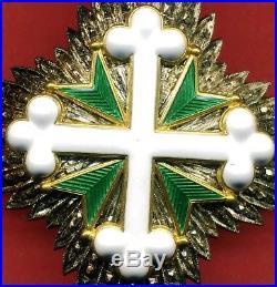 Ancienne Plaque Du Dix-neuvième Siècle Ordre Des Saints Maurizio Et Lazare Gra