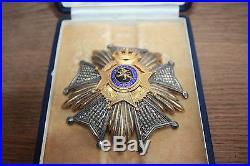 Ancienne médaille militaire ordre de Léopold II grand officier fabrique DEGREEF