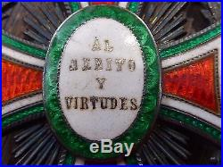 Ancienne médaille militaire ordre notre Dame de Guadalupe Mexique Napoléon