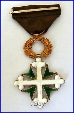 Ancienne medaille or massif 18 carats Ordre des Saints Maurice et Lazare