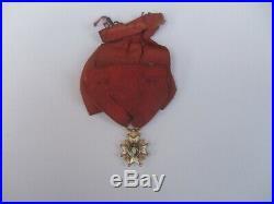 Ancienne médaille or massif décoration ordre st Saint louis réduction Louis XVI