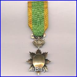 Annam Ordre du Dragon, étoile d' officier en vermeil