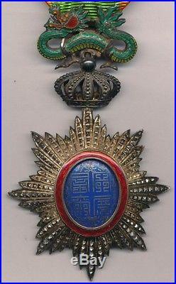 Annam Ordre du Dragon, étoile de chevalier par LEMAITRE