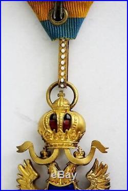Autriche, Austro Ordre Chevalier Fer Couronne 3te Classe Avec Kd, Merveilleux