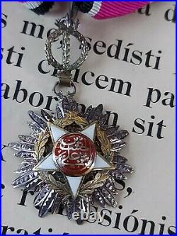 B009 Médaille Décoration JORDANIE Gde croix +Commandeur ORDRE DE L'INDEPENDANCE