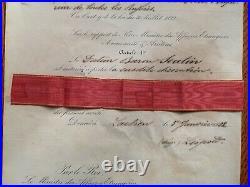 BELGIQUE LETTRE BREVET ORDRE DE SAINTE-ANNE 2ème CLASSE 1852 RUSSIE LÉOPOLD