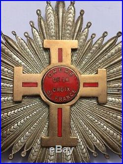 BOC3 Superbe plaque ordre de la croix de FRANCE french medal