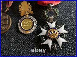Barrette 4 Décorations Ww2 Legion D'honneur Médaille Resistance Militaire