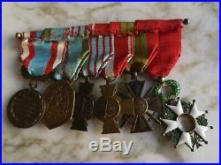 Barrette Décorations Légion D'honneur Ww2 Croix De Guerre Combattant Médaille