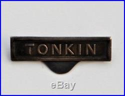 Barrette à clapet Tonkin pour la médaille coloniale, modèle de la monnaie