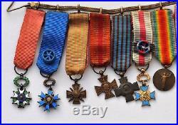Barrette de 10 réductions 1914-1918 commandeur Mérite Militaire