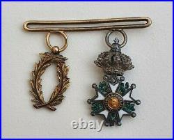 Barrette de 2 réductions Légion d'honneur Napoléon III et palmes académiques