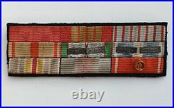 Barrette de 9 réductions 1939/45, coloniale, ouissam alaouite, Légion d'honneur