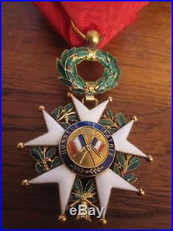 Bel OFFICIER DE L'ORDRE DE LA LEGION D'HONNEUR 1870 EN OR