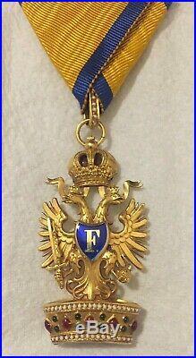 Bel insigne de chevalier de l'ordre de la Couronne de Fer, d'Autriche