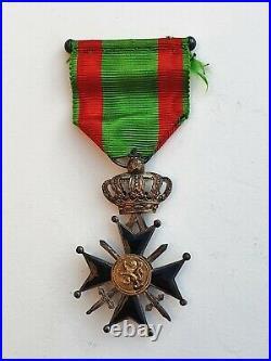 Belgique Croix Militaire de 2° classe, Roi Albert, dans son écrin d'origine