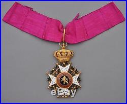Belgique Croix de commandeur de l'ordre de Léopold, légende bilingue