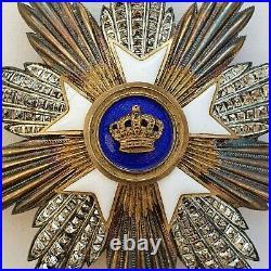 Belgique Ordre de La Couronne, plaque de Grand Croix, en argent, signé Degreef