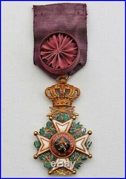 Belgique Ordre de Léopold, Officier en or, militaire