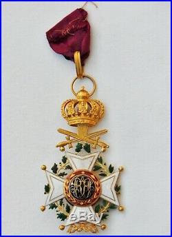 Belgique Ordre de Léopold, commandeur en or, militaire, époque 1850-1860