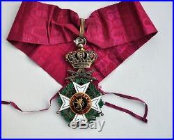 Belgique Ordre de Léopold, croix de commandeur en vermeil, à titre militaire